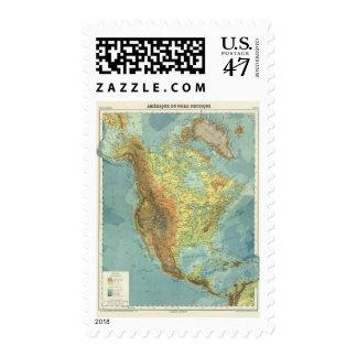 North America Map 2 Postage