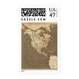 North America Map by Arrowsmith Postage