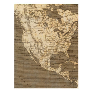North America Map by Arrowsmith Postcard