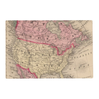 North America Map by Mitchell Placemat
