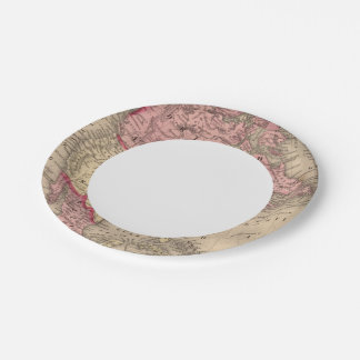 North America Map by Mitchell 7 Inch Paper Plate