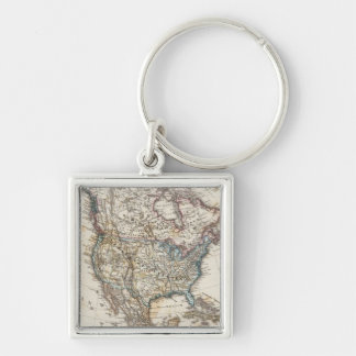 North America Map by Stieler Keychain