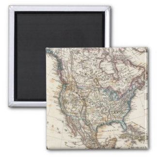 North America Map by Stieler Magnet