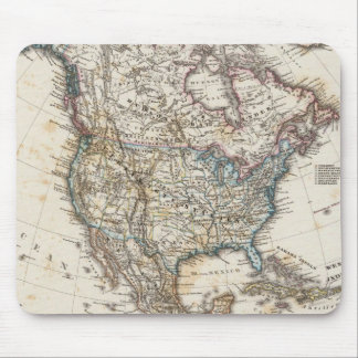 North America Map by Stieler Mouse Pad