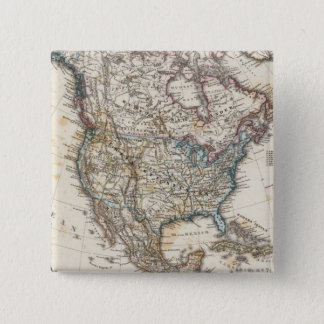 North America Map by Stieler Pinback Button