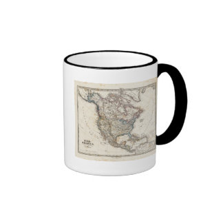 North America Map by Stieler Ringer Mug