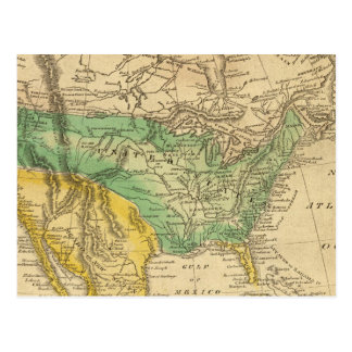 North America Map by Worcester Postcard