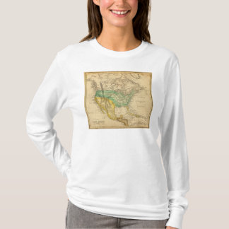 North America Map by Worcester T-Shirt