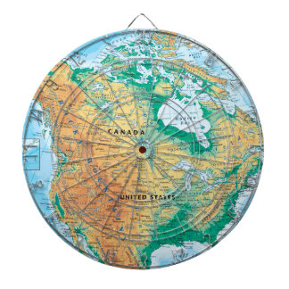 North America Map Dartboard