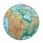North America Map Dartboard With Darts