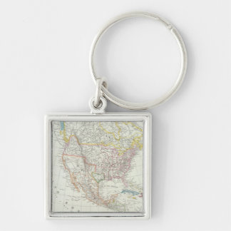 North America Map Key Chain