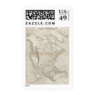 North America Map Postage Stamp