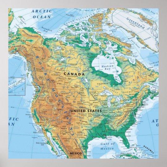 North America Map Poster | Zazzle.com