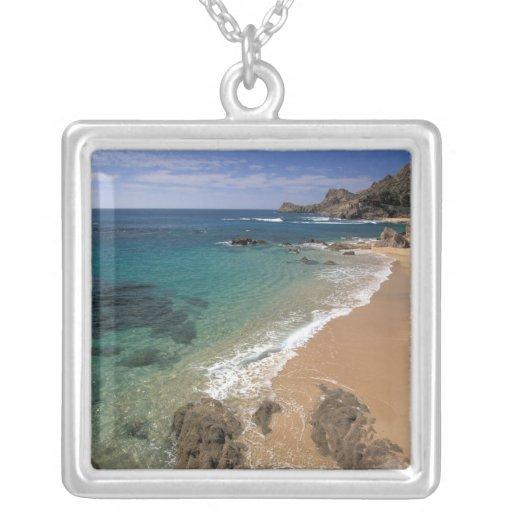 North America, Mexico, Baja California Sur, Square Pendant Necklace