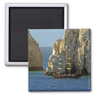 North America, Mexico, State of Baja 2 Inch Square Magnet