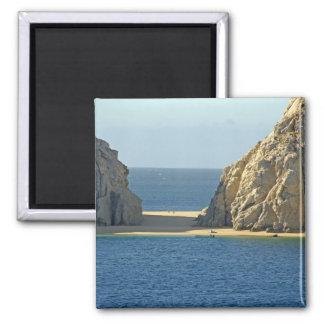 North America, Mexico, State of Baja California 2 Inch Square Magnet