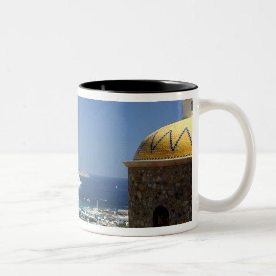 North America, Mexico, State of Baja California 2 Two-Tone Coffee Mug