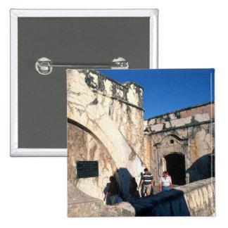 North America, Mexico, Veracruz. San Juan Ulua 2 Inch Square Button