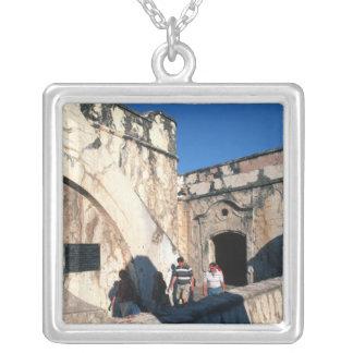 North America, Mexico, Veracruz. San Juan Ulua Silver Plated Necklace