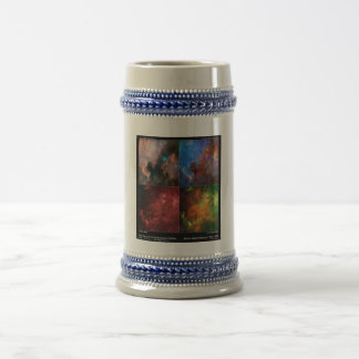 North America Nebula in Visible and Infrared Light Beer Stein