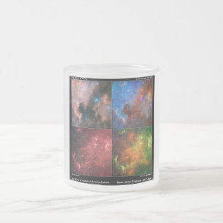 North America Nebula in Visible and Infrared Light Frosted Glass Coffee Mug