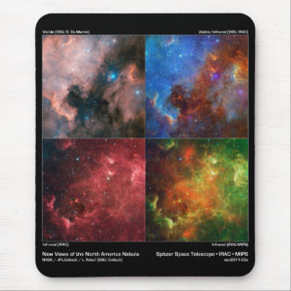 North America Nebula in Visible and Infrared Light Mouse Pad