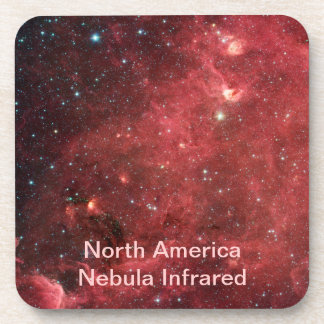 North America Nebula Infrared Drink Coaster