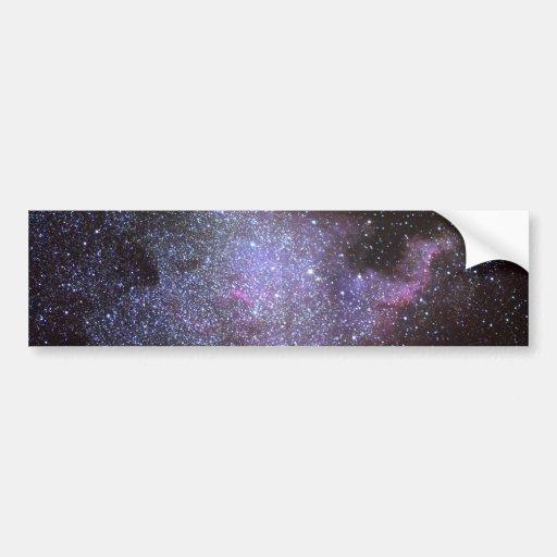 North America Nebula. The Milky way. Car Bumper Sticker