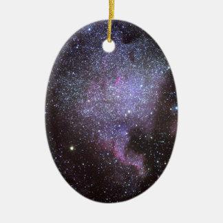 North America Nebula. The Milky way. Ceramic Ornament