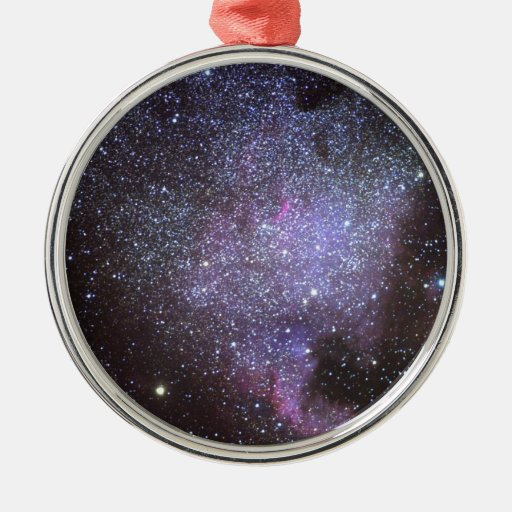 North America Nebula. The Milky way. Metal Ornament