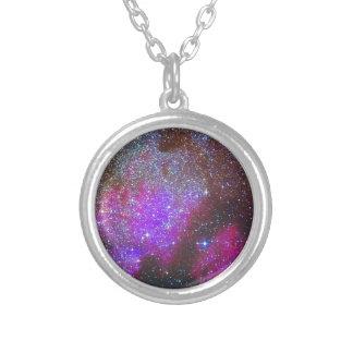 North America Nebula. The Milky way. Round Pendant Necklace