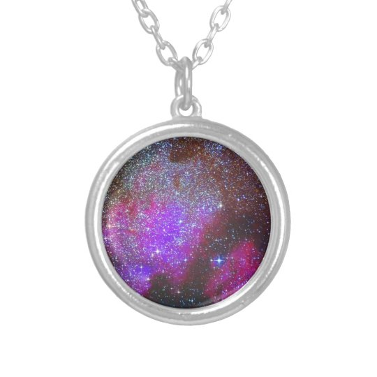 North America Nebula. The Milky way. Silver Plated Necklace
