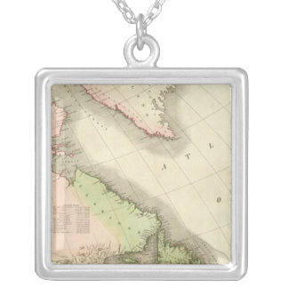 North America Northeast Square Pendant Necklace
