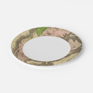 North America Olney Map 7 Inch Paper Plate