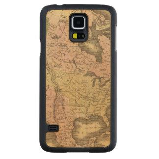 North America Olney Map Carved® Maple Galaxy S5 Slim Case