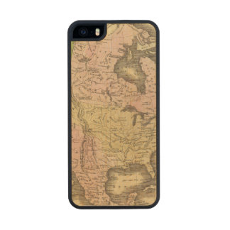 North America Olney Map Carved® Maple iPhone 5 Case