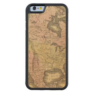 North America Olney Map Carved® Maple iPhone 6 Bumper