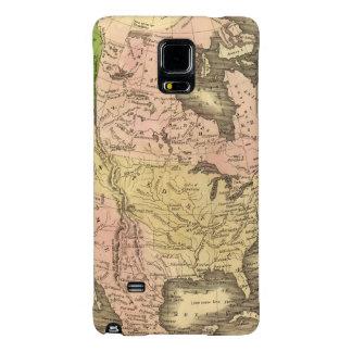 North America Olney Map Galaxy Note 4 Case