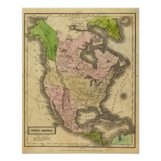 North America Olney Map Poster