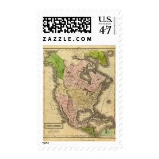 North America Olney Map Stamp