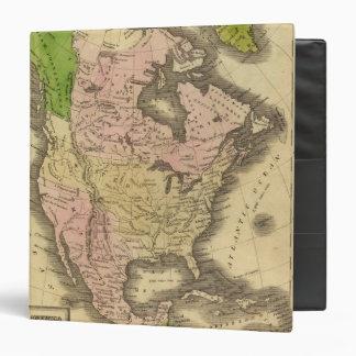 North America Olney Map Vinyl Binder