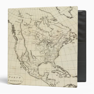 North America outline map Binder