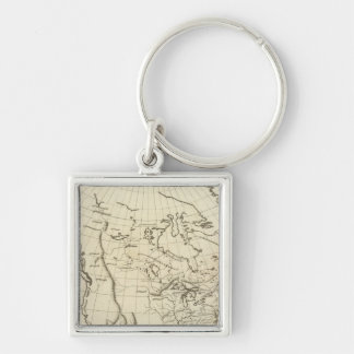 North America outline map Keychain