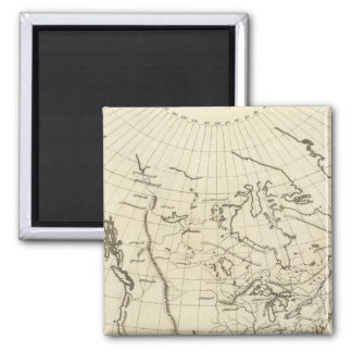 North America outline map Magnet