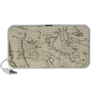 North America outline map Mini Speaker