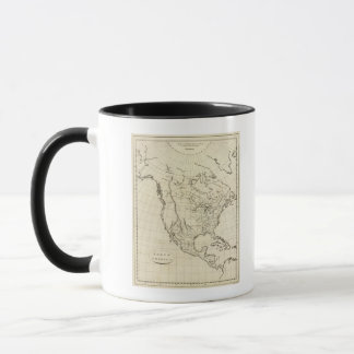 North America outline map Mug