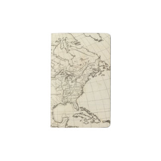 North America outline map Pocket Moleskine Notebook Cover With Notebook