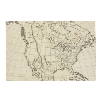 North America outline map Placemat