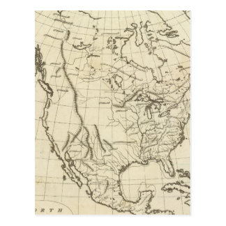 North America outline map Postcard