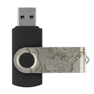 North America outline map Swivel USB 2.0 Flash Drive